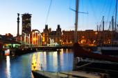 Port Vell during sunset. — Stock Photo