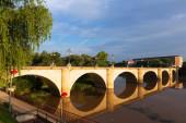 Ancient  bridge over Ebro. — Stock Photo