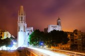 Church of Sant Feliu and Gothic Cathedral — Stock Photo
