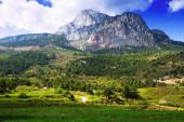 Pedra Forca - white rocky mountain in Pyrenees  — Stock Photo