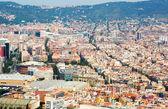 Letecký pohled na bydlení okresů v evropském městě. — Stock fotografie