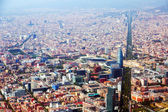 Aerial view of Barcelona with Avenue Diagonal — Stock Photo