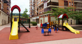 playground area in cityspace — Photo