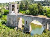 Fortifications and bridge, built in the 12th century  — Stock Photo