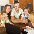 Family with social worker — Stock Photo #54982501
