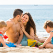 Mother and father with two kids — Stock Photo #54982597