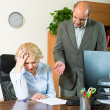 Boss screaming at mature assistant — Stock Photo #54989301