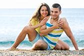 Couple at seaside — Stock Photo