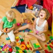 Children playing with blocks — Stock Photo #54993147