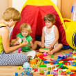 Mother and children playing — Stock Photo #54993233
