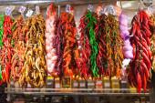 Ajo y pimiento rojo — Foto de Stock