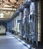 Contemporary winemaker factory — Stock Photo