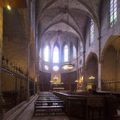 Interior of Cathedral of Pedralbes Monastery — Stock Photo