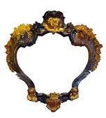 Nietypowy kształt złoty stelaż — Zdjęcie stockowe