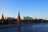 Moskova kremlin ve moskova nehri — Stok fotoğraf