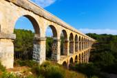 Roman aqueduct in  Tarragona — Stock Photo