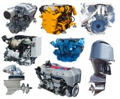 Engines of boats. — Stock Photo