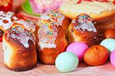 Oeufs et gâteaux de pâques — Photo
