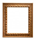 Gold picture  frame. — Stock Photo