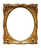 Oval gold picture frame. — Stock Photo