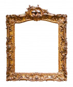 Luxury picture gilded frame  — Stok fotoğraf