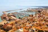 Seaside part of Alicante and  port. — Foto de Stock