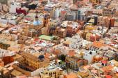 Old part of Alicante from Castle  — Foto de Stock