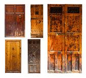 Set of old wooden doors — Stock Photo