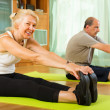 Mature couple doing exercises — Stock Photo #57460543