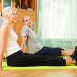Mature couple doing exercises — Stock Photo #57460695
