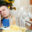 Man having headache after celebrating — Stock Photo #57467307
