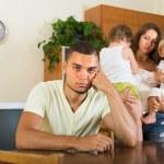 Couple with children having quarrel — Stock Photo #57468271