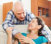 Mature man with beloved wife   — Zdjęcie stockowe
