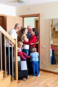 Family meeting relatives — Stock Photo