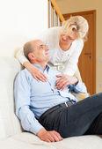 Happy senior man with mature wife — Zdjęcie stockowe