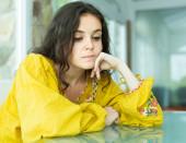 Portrait of upset lonely girl — Stock Photo