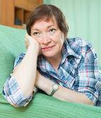 Mature woman with sad face  — Stock Photo