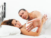Lovers caught during adultery — Stock Photo