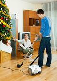 Doing housework — Stock Photo