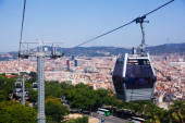 Montjuic  Cable Car in Barcelona — Stock Photo