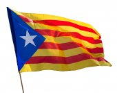 Flying Catalonia  flag — Stock Photo