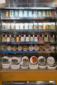Vetrina per pesce cibo in store — Foto Stock