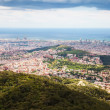 Top view of residence district in Barcelona from Tibidabo — Stock Photo #59482463