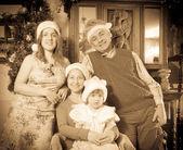Mutlu üç kuşak aile — Stok fotoğraf