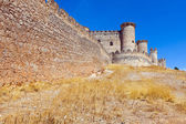 City wall and castle of  Belmonte — Stock Photo