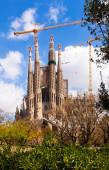 Sagrada familia av arkitekten antoni gaudi — Stockfoto