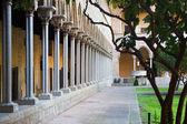 Gothic cloister of Pedralbes Monastery  — Stock Photo