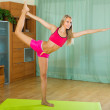 Young woman having pilates indoor — Stock Photo #59493315