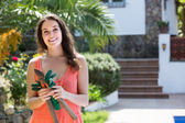 Ženské květiny v zahradě — Stock fotografie