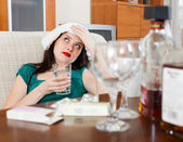 girl having hangover   — Stock Photo